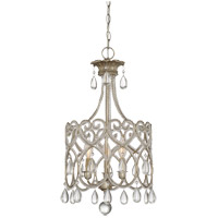 Savoy House 1-870-3-211 Signature 3 Light 13 inch Argentum Mini Chandelier Ceiling Light