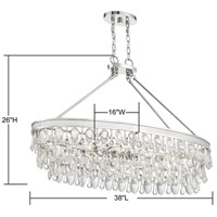 Savoy House 1-8702-8-109 Windham 8 Light 38 inch Polished Nickel Linear Chandelier Ceiling Light alternative photo thumbnail