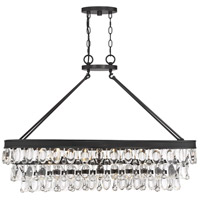 Savoy House 1-8702-8-13 Windham 8 Light 38 inch English Bronze Linear Chandelier Ceiling Light