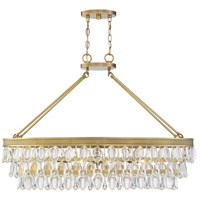 Savoy House 1-8702-8-322 Windham 8 Light 38 inch Warm Brass Linear Chandelier Ceiling Light