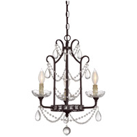 Savoy House Signature 3 Light Mini Chandelier in English Bronze 1-871-3-13