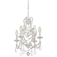 Signature 4 Light 16 inch Matte White Mini Chandelier Ceiling Light