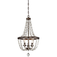 Signature 3 Light 13 inch Oiled Burnished Bronze Mini Chandelier Ceiling Light