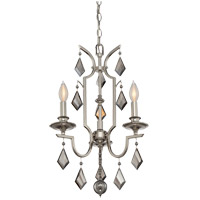 Ballard 3 Light 15 inch Polished Nickel Mini Chandelier Ceiling Light
