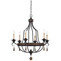 Savoy House 1-8901-6-41 Kelsey 6 Light 29 inch Durango Chandelier Ceiling Light