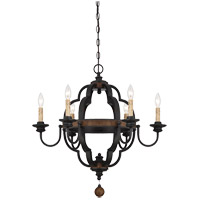 Kelsey 6 Light 27 inch Durango Chandelier Ceiling Light