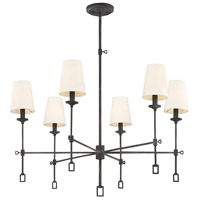 Lorainne 6 Light 32 inch Oxidized Black Chandelier Ceiling Light