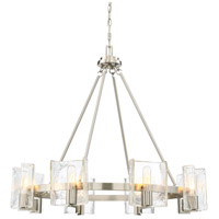 Handel 8 Light 33 inch Satin Nickel Chandelier Ceiling Light