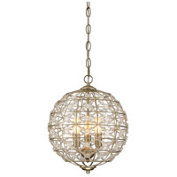 Savoy House 1-9068-3-100 Signature 3 Light 12 inch Aurora Mini Chandelier Ceiling Light