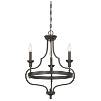 Shields 3 Light 21 inch English Bronze Chandelier Ceiling Light