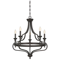 Shields 5 Light 26 inch English Bronze Chandelier Ceiling Light