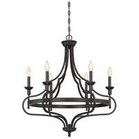 Shields 6 Light 29 inch English Bronze Chandelier Ceiling Light