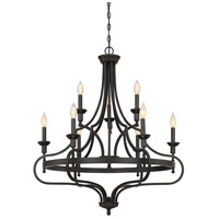 Shields 9 Light 32 inch English Bronze Chandelier Ceiling Light