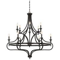 Shields 12 Light 48 inch English Bronze Chandelier Ceiling Light