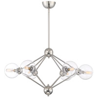Bonn 6 Light 30 inch Polished Nickel Chandelier Ceiling Light