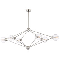Bonn 6 Light 21 inch Polished Nickel Chandelier Ceiling Light