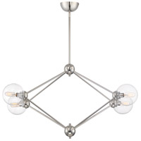 Bonn 4 Light 17 inch Polished Nickel Chandelier Ceiling Light