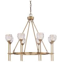 Savoy House 1-9100-8-322 Garland 8 Light 32 inch Warm Brass Chandelier Ceiling Light