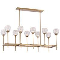 Savoy House 1-9101-10-322 Garland 10 Light 16 inch Warm Brass Chandelier Ceiling Light