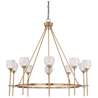 Savoy House 1-9102-10-322 Garland 10 Light 38 inch Warm Brass Chandelier Ceiling Light