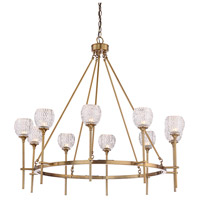 Savoy House 1-9102-10-322 Garland 10 Light 38 inch Warm Brass Chandelier Ceiling Light alternative photo thumbnail