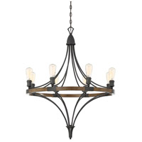 Turing 8 Light 31 inch Whiskey Wood Chandelier Ceiling Light