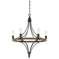Turing 6 Light 28 inch Whiskey Wood Chandelier Ceiling Light