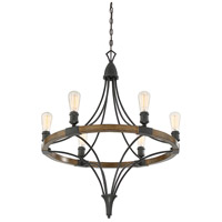 Savoy House 1-9111-6-68 Turing 6 Light 28 inch Whiskey Wood Chandelier Ceiling Light alternative photo thumbnail