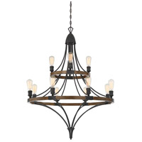 Turing 12 Light 36 inch Whiskey Wood Chandelier Ceiling Light