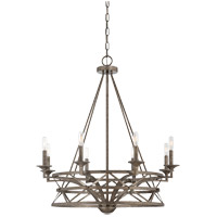 Savoy House Rail 8 Light Chandelier in Antique Nickel 1-9120-8-285