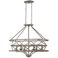 Savoy House Rail 6 Light Chandelier in Antique Nickel 1-9121-6-285