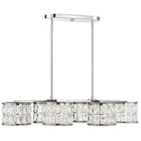 Citrine LED 19 inch Polished Chrome Chandelier Ceiling Light, Oval