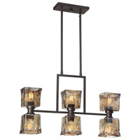 Tallin 6 Light 30 inch English Bronze Island Chandelier Ceiling Light