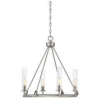 Hasting 4 Light 22 inch Brushed Pewter Chandelier Ceiling Light