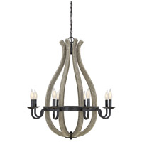 Carrolton 8 Light 28 inch Weathered Birch Chandelier Ceiling Light