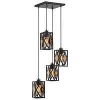 Putman 4 Light 13 inch English Bronze Chandelier Ceiling Light, Multi-Point