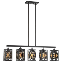 Putman 5 Light 40 inch English Bronze Island Chandelier Ceiling Light