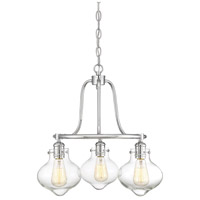 Allman 3 Light 20 inch Polished Chrome Chandelier Ceiling Light