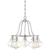 Allman 5 Light 25 inch Polished Chrome Chandelier Ceiling Light