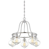 Savoy House 1-9404-5-11 Allman 5 Light 25 inch Polished Chrome Chandelier Ceiling Light alternative photo thumbnail