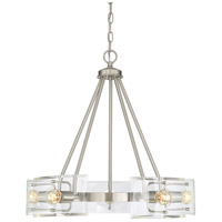 Cardella 5 Light 23 inch Satin Nickel Chandelier Ceiling Light