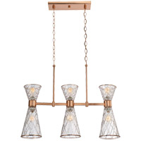 Savoy House Courtland 6 Light Island Light in Rose Gold 1-951-6-58