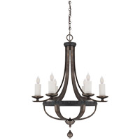 Savoy House Alsace  6 Light Chandelier in Reclaimed Wood 1-9530-6-196