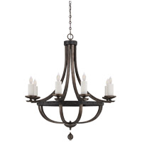 Savoy House Alsace  8 Light Chandelier in Reclaimed Wood 1-9531-8-196