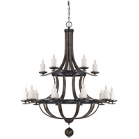 Savoy House 1-9533-15-196 Alsace 15 Light 48 inch Reclaimed Wood Chandelier Ceiling Light