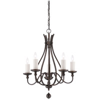 Savoy House Alsace 5 Light Chandelier in Reclaimed Wood 1-9537-5-196