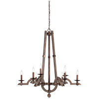 Berwick 9 Light 34 inch Dark Wood and Guilded Bronze Chandelier Ceiling Light