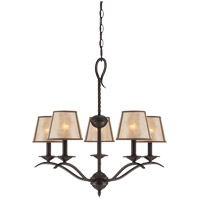 Savoy House Kennebec 5 Light Chandelier in Slate 1-9620-5-25