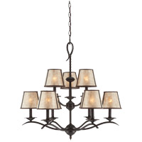 Savoy House Kennebec 9 Light Chandelier in Slate 1-9622-9-25