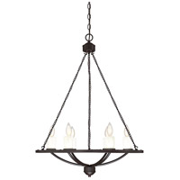 Hampshire 6 Light 26 inch English Bronze Chandelier Ceiling Light